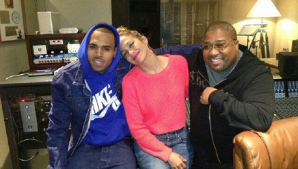 JLo and Chris Brown studio twitter