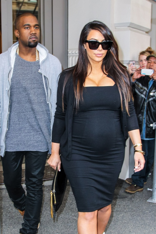 Pregnant Kim Kardashian and Kanye West made a quick shopping stop at Isabel Marant store in New York City