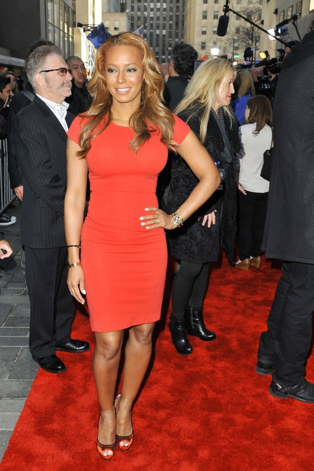 Spice Girl Mel B aka Melanie Brown seen at the 'Today Show' in New York