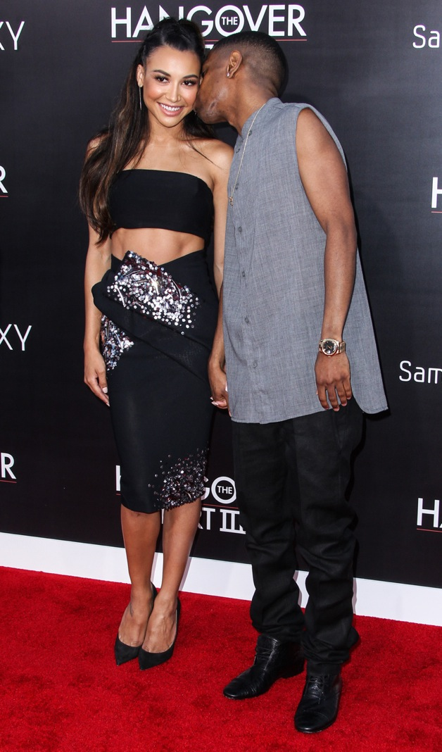 Naya Rivera and Big Sean (Sean Michael Anderson) attending the premiere of Warner Bros. Pictures' 'The Hangover Part 3' at the Westwood Village Theater in Los Angeles