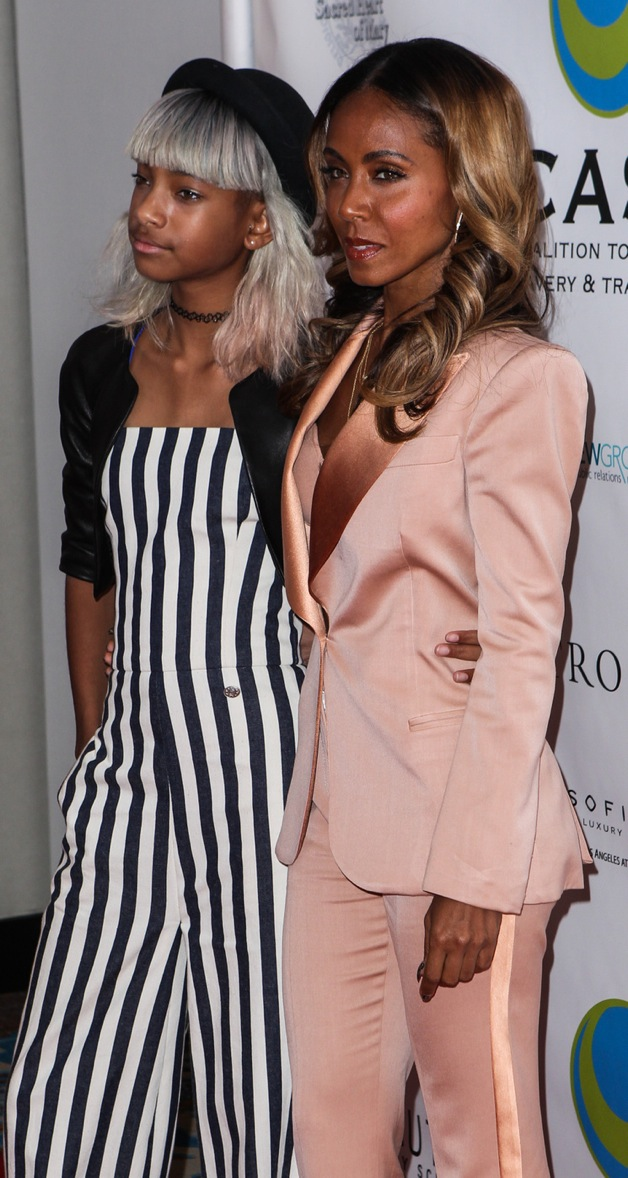 Willow Smith and Jada Pinkett Smith arrive at The Coalition To Abolish Slavery And Trafficking 15th Annual From Slavery To Freedom Event at Sofitel Hotel in Los Angeles