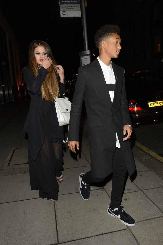 Jaden Smith and Selena Gomez meet each other for dinner at Hakkasan in London