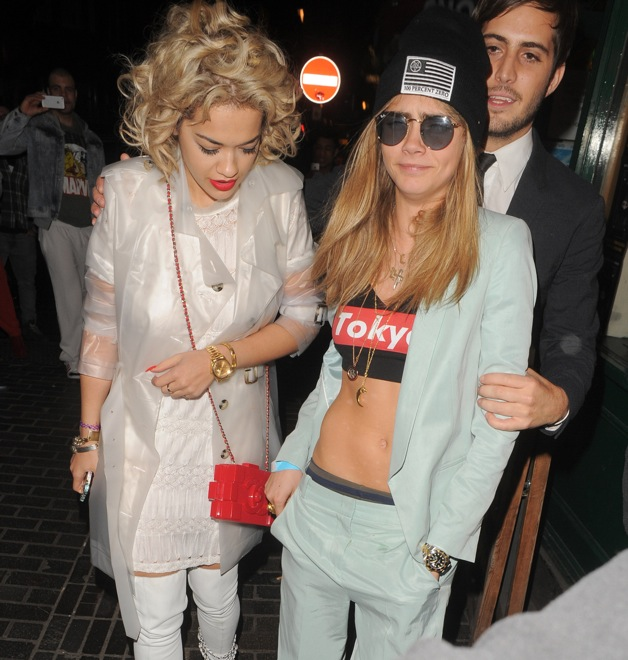 Cara Delevingne and Rita Ora seen at the box club after watching Beyonce in London