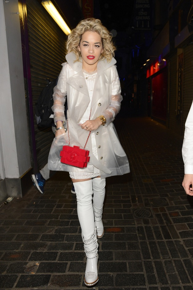 Rita Ora attends Fran Cutler's 40th birthday party at The Box in London
