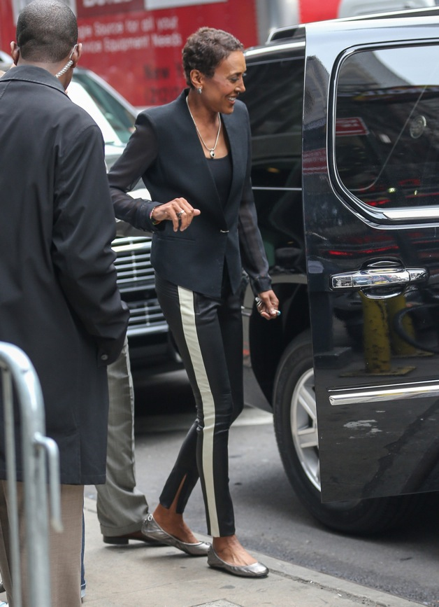 Robin Roberts seen leaving the ABC Studios in New York City