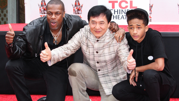 Chris Tucker Jaden Smith Support Jackie Chan In Hand And
