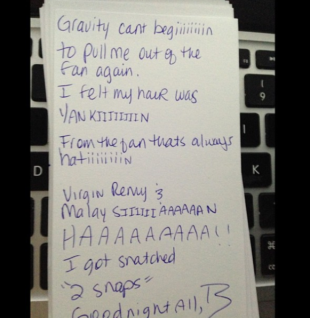 Beyonce note