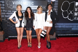 Shannon Bex, Andrea Fimbres, Aubrey O'Day and Dawn Richards of Danity Kane attend the 2013 MTV Video Music Awards at the Barclays Center in the Brooklyn borough of New York City