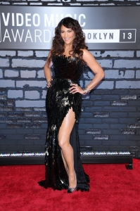 Paula Patton attends the 2013 MTV Video Music Awards at the Barclays Center in the Brooklyn borough of New York City