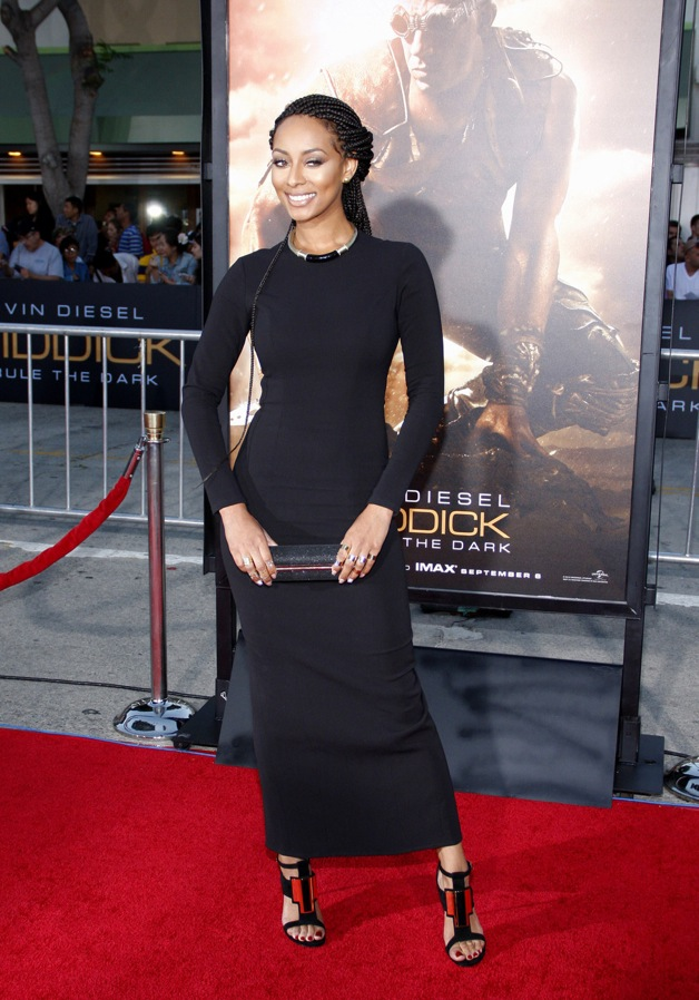 Keri Hilson at the Los Angeles premiere of 'Riddick'