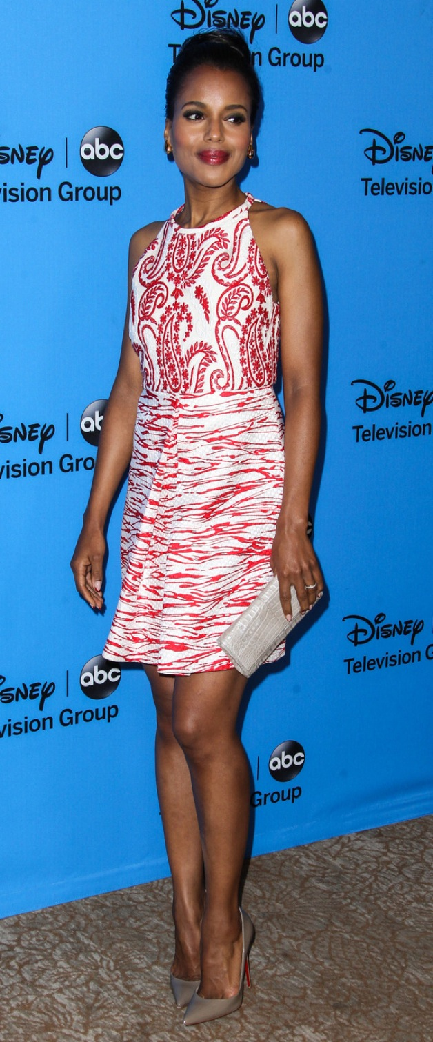 Kerry Washington attends the 2013 Disney/ABC Television Critics Association's summer press tour party at The Beverly Hilton Hotel in Beverly Hills