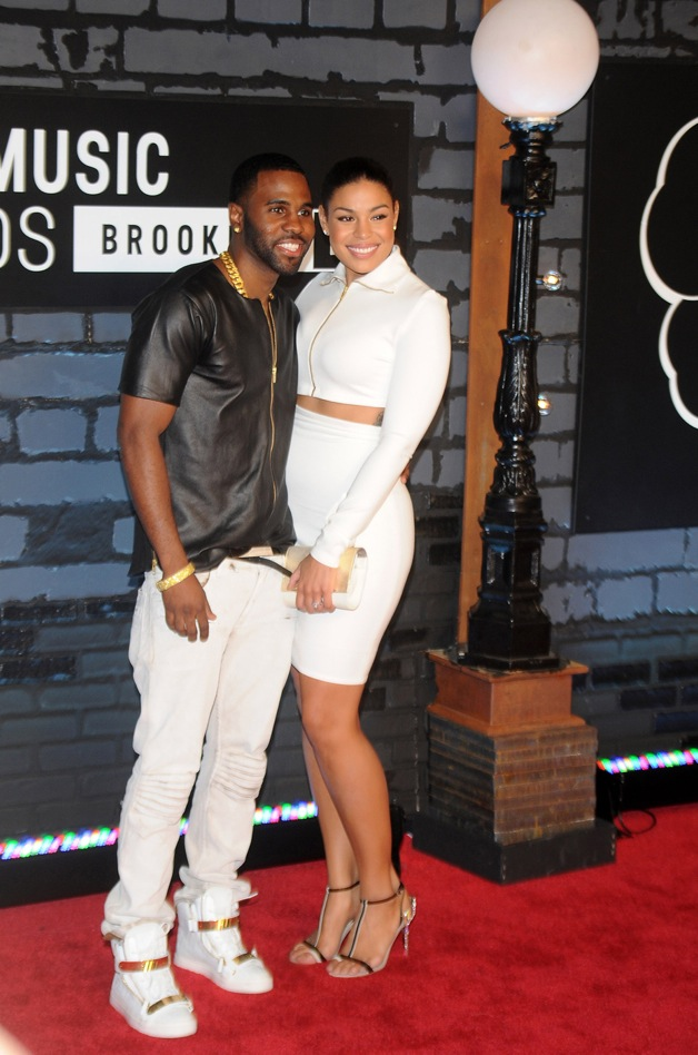Jordin Sparks and Jason Derulo during 2013 MTV video music awards at the Barclays center in New York City