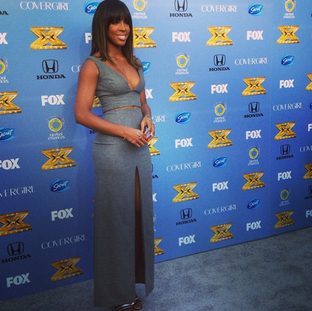 Rowland bares her goods at the x factor premiere hiphollywood