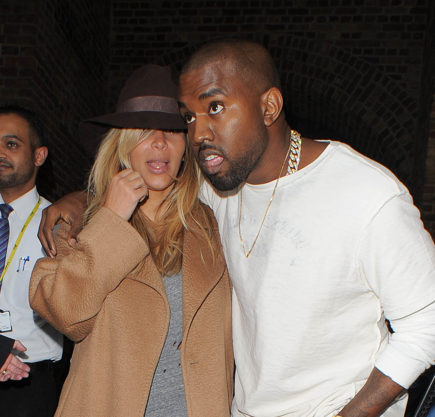 Kim Kardashian and Kanye West seen arriving at Eurostar's station in London