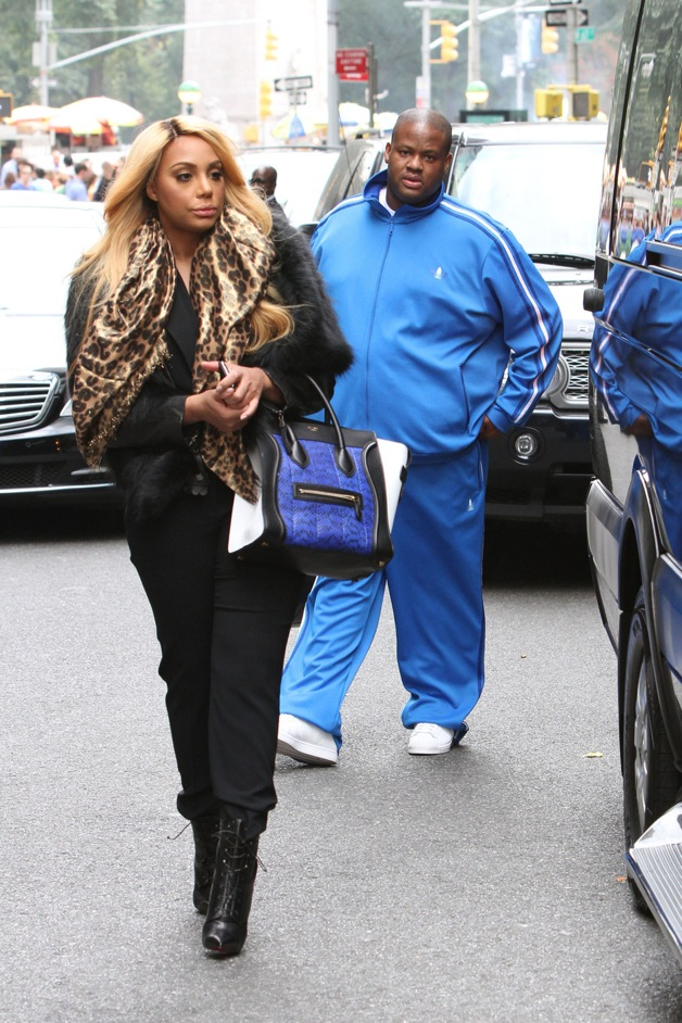 **EXCLUSIVE** Tamar Braxton and husband Vince Herbert head out of their New York City hotel