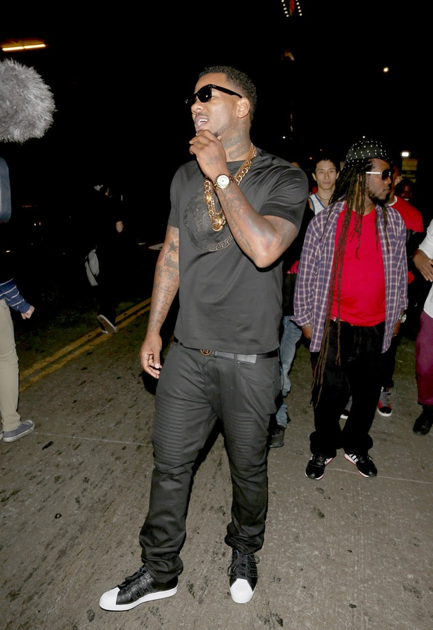 Khloe Kardashian and Rapper The Game arrive at True Night Club in Los Angeles