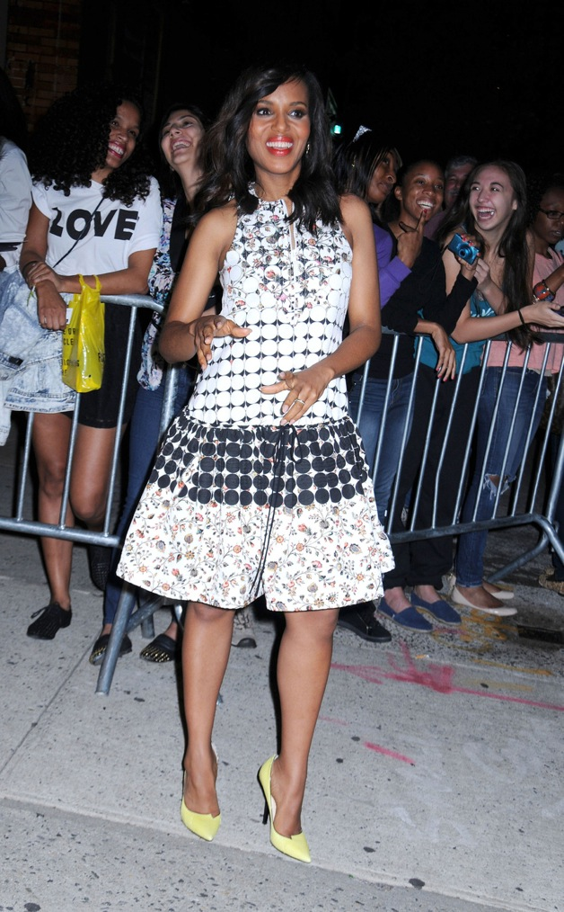 Kerry Washington leaves 'The Daily Show with Jon Stewart' in New York
