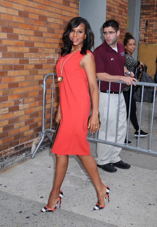 Kerry Washington arrives at 'The Daily Show with Jon Stewart' in New York