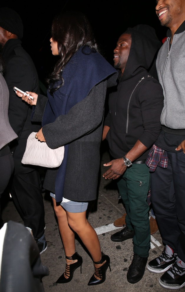 Actor Kevin Hart leaves Jay-Z's after party at LURE Nightclub in Los Angeles