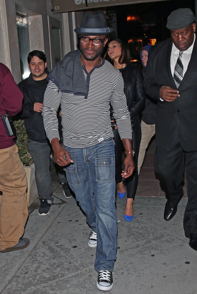 Newly single Taye Diggs leaves 1 OAK Nightclub in Los Angeles with a mystery woman