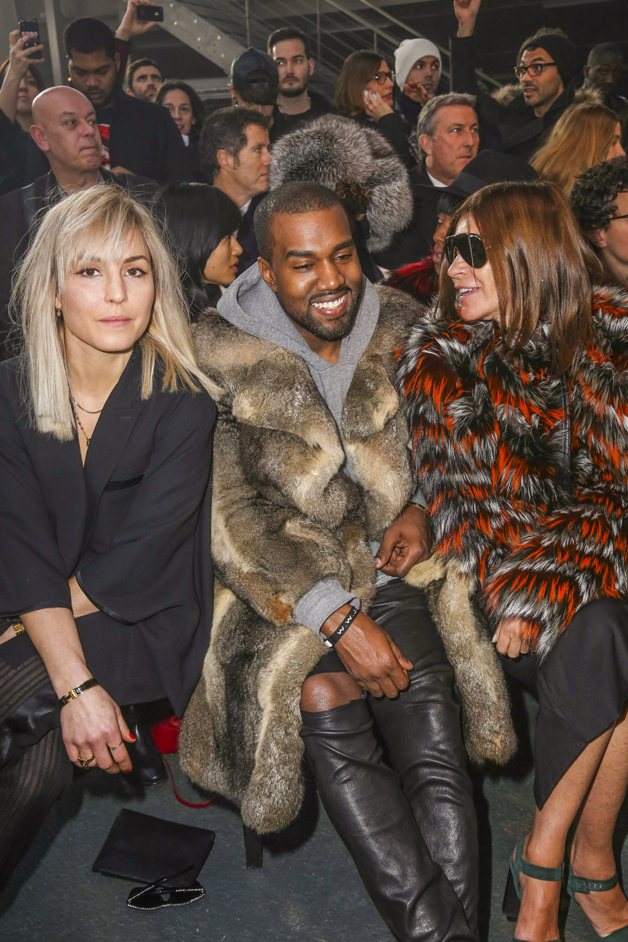 """Noomi Rapace and Kanye West seen at the """"Givenchy"""" fashion show during the Paris Fashion Week in Paris"""