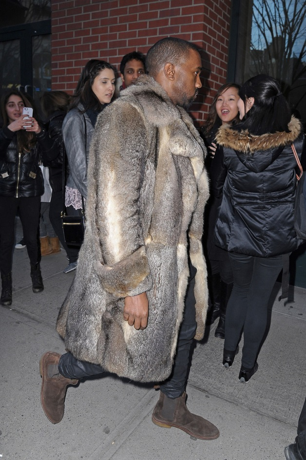 Kim Kardashian and Kanye West seen leaving their apartment together in New York City