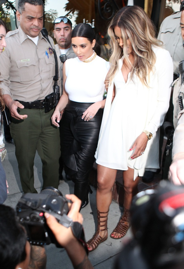 Kim Kardashian and Ciara step out together after shopping at Bel Bambini in Los Angeles