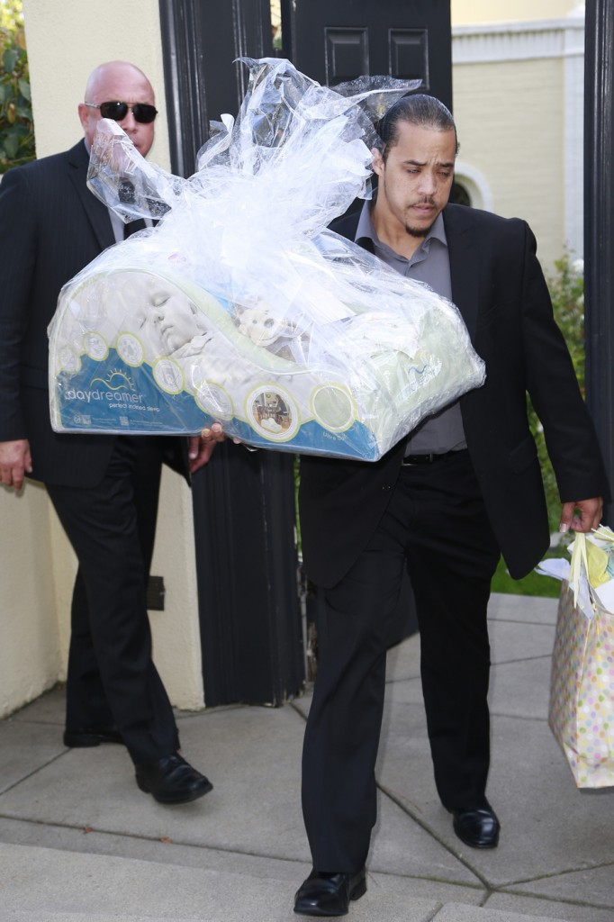 Guest arrives to Ciara's baby shower in Beverly Hills