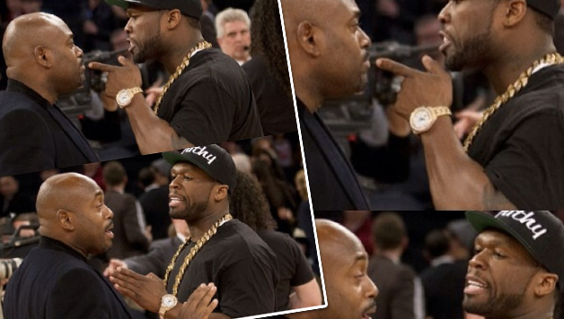 50 Cent Confronts Steve Stoute At Knicks Game - HipHollywood