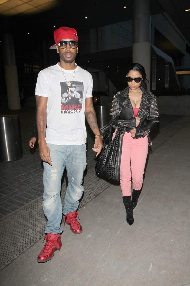 Nicki Minaj arrives at LAX airport back from Cabo with rumored husband Safaree Samuels in Los Angele