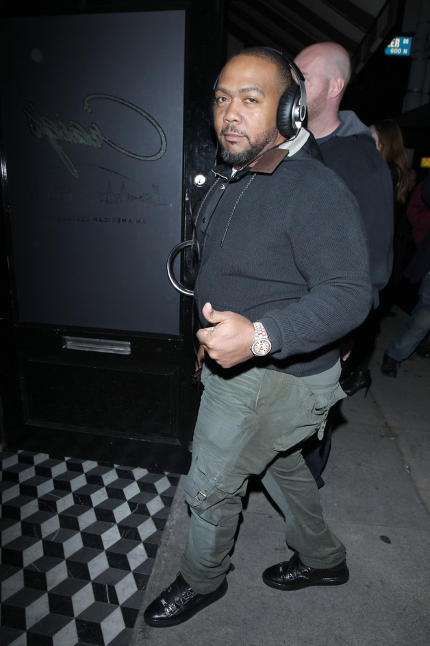 Timbaland and T.I. seen arriving at the Craig's restaurant in Los Angeles