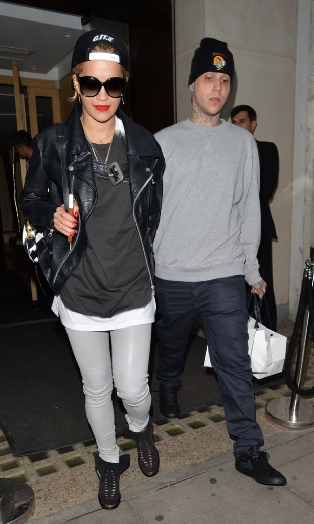 Rita Ora seen leaving Nobu with a mystery man in London