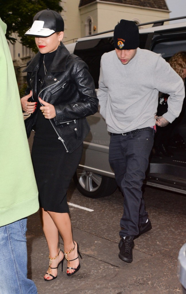 Rita Ora and her new boyfriend Richard Hilfiger arrives at her house after attending Daisy Lowe's party in London