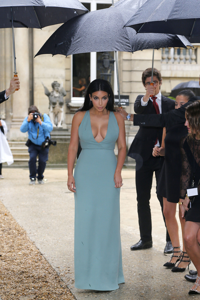 Kim Kardashian at 'Valentino' show during Paris Fashion Week - Haute Couture Autumn Winter 2014/2015 in France