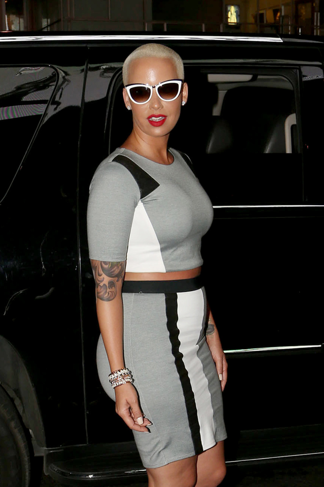 Amber Rose arrives at Paris Hilton's new single 'Come Alive' release party at 1 Oak La in West Hollywood