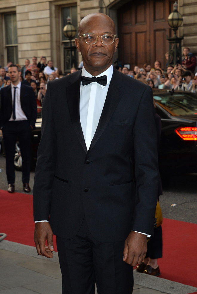 Samuel L Jackson attends the GQ Men Of The Year Award at Royal Opera House, Covent Garden in London
