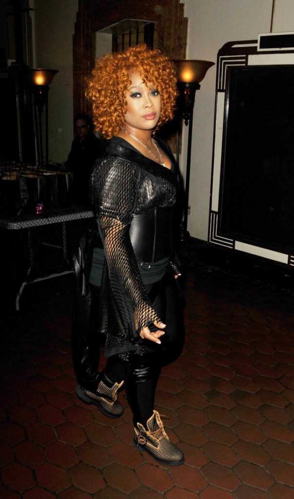 Rapper Da Brat sports red hair at the 3rd Annual Female Hip Hop Honor Awards at the Warner Grand Theatre in Los Angeles