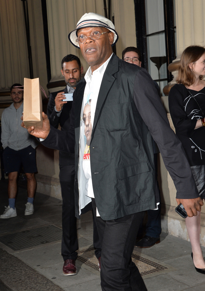 Samuel L. Jackson at The London Stella McCartney Green Carpet Challenge Collection during London Fashion Week Spring Summer 2015