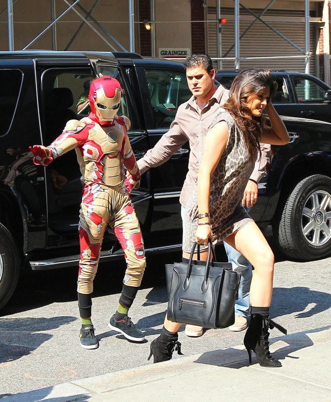 Jaden Smith and Kylie Jenner do some shopping in Times Square before Smith morphs into Iron Man while in New York City