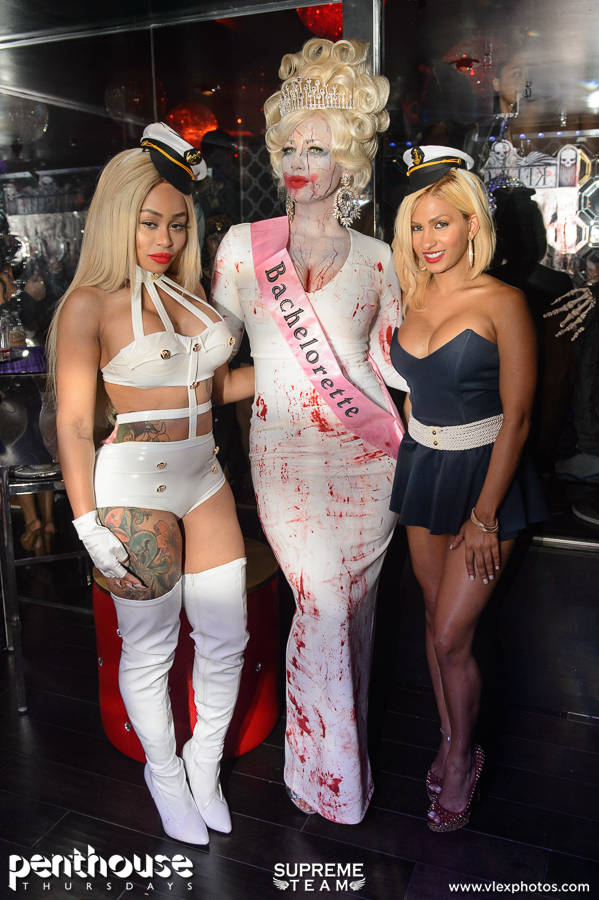 Blac Chyna, Amber Rose and a friend pose together.