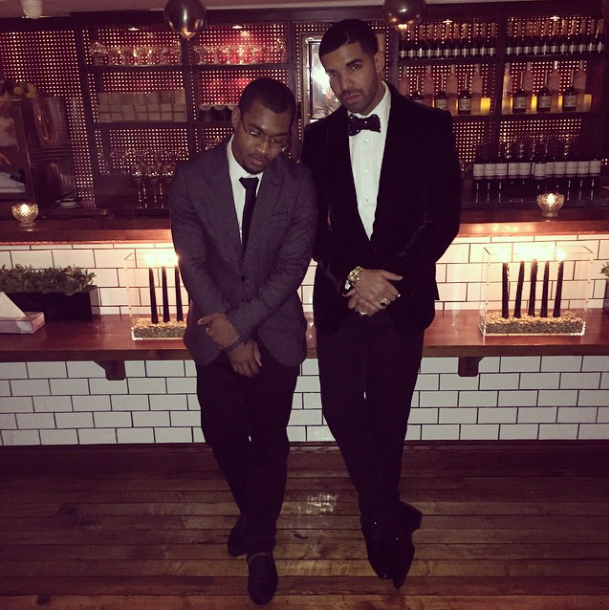 Drake and his friend Mark