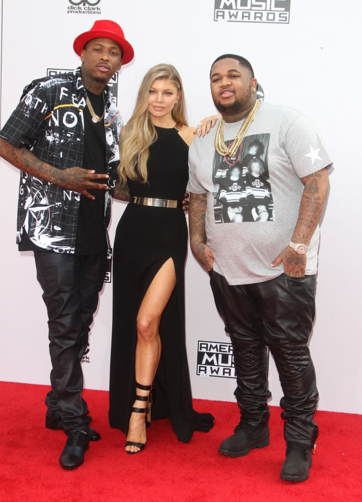 YG, Fergie and DJ Mustard did a little posing together.