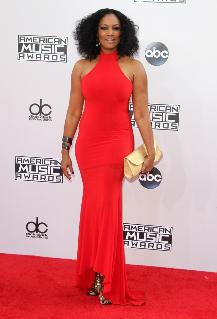 Bright red and big hair for Garcelle Beauvais!