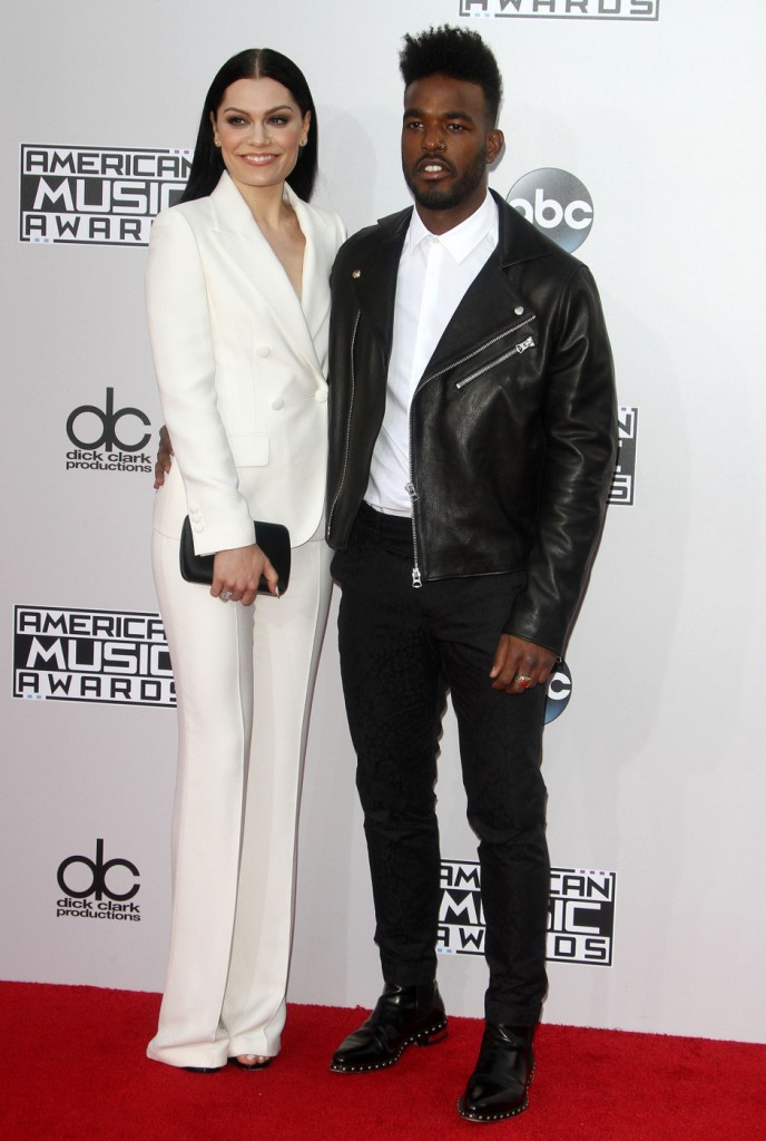 New Couple! Jessie J and Luke James went for an ironic black and white theme.