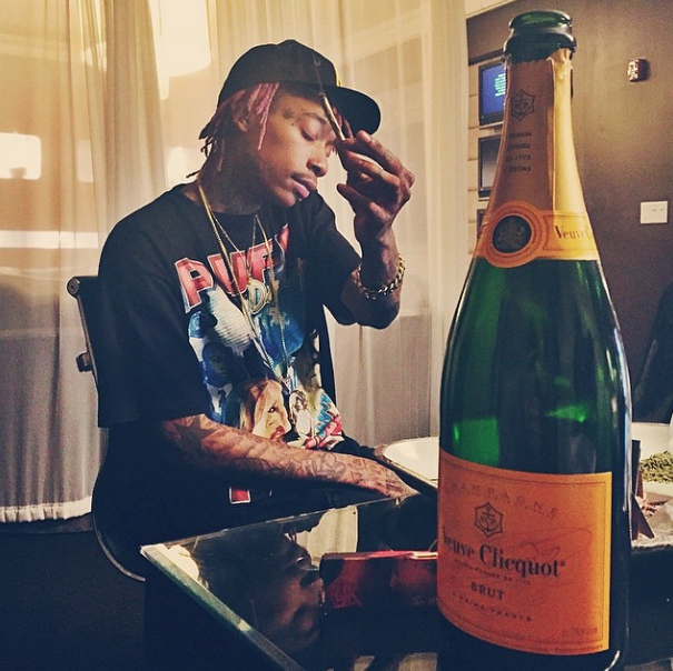 More champagne for Wiz.