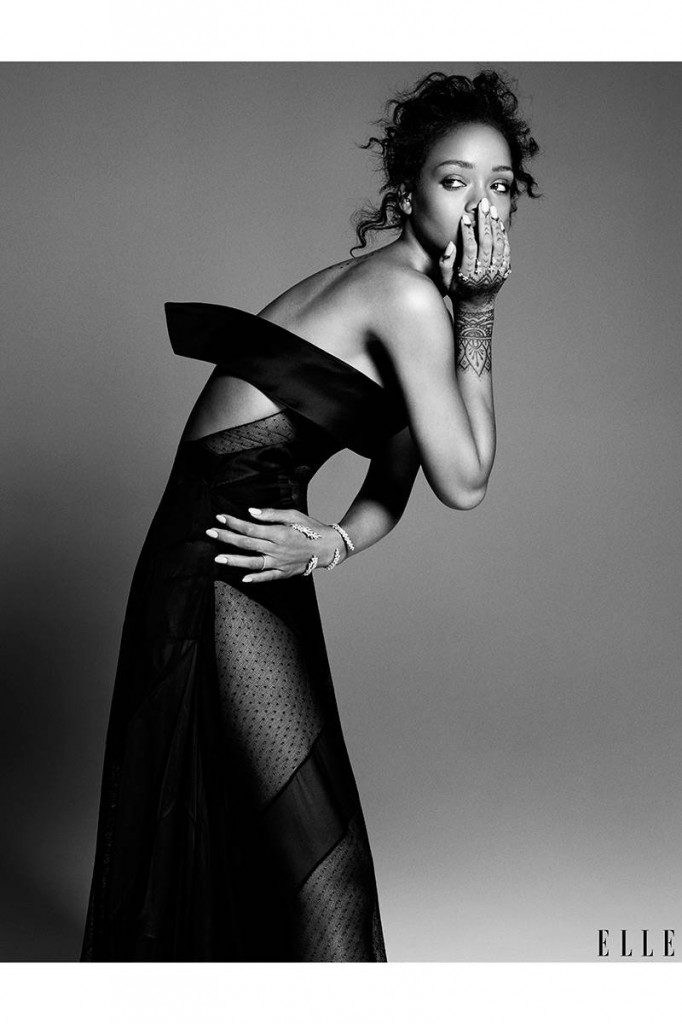 Serving model pose realness in a Alexandre Vauthier gown.