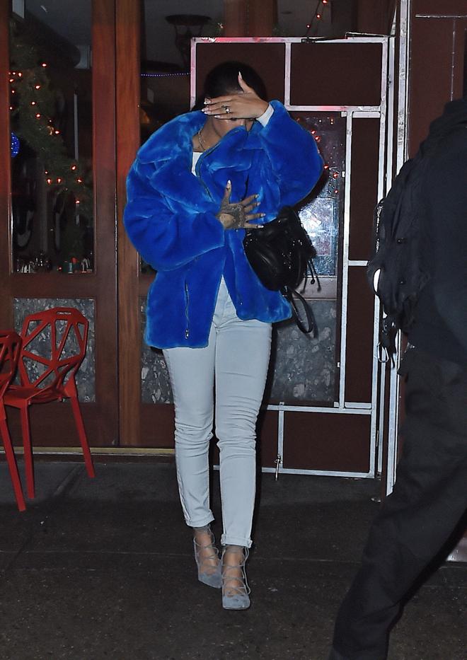 Rihanna seen leaving the Da Silvano Restaurant in New York City
