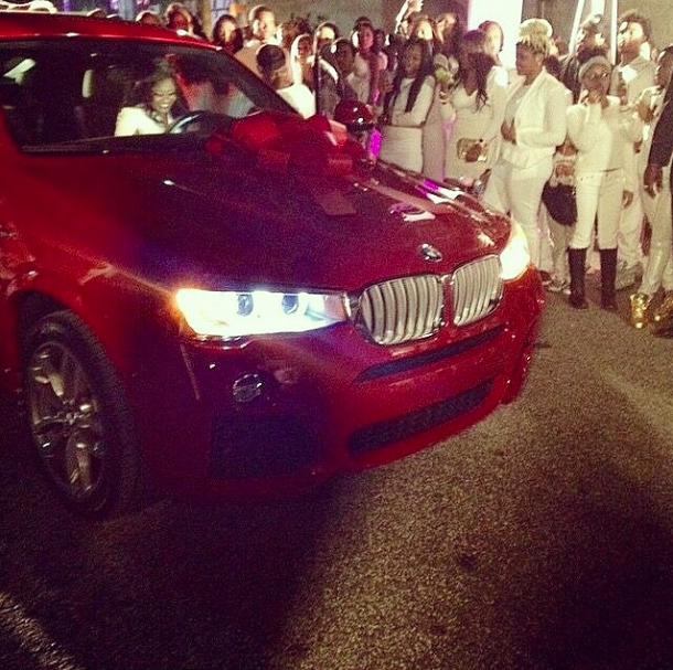 Reginae's BMW.