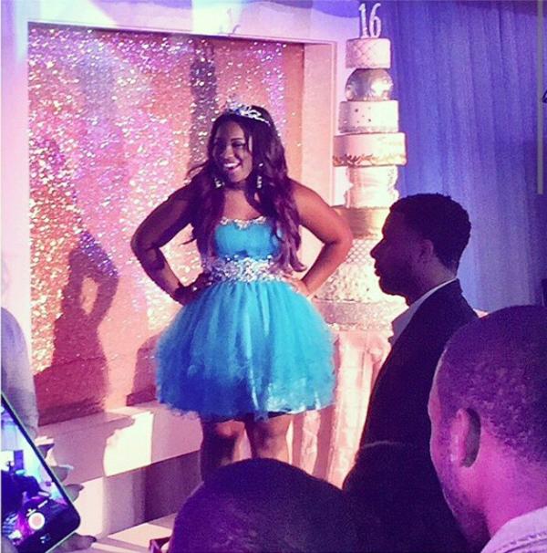 Reginae and her cake.
