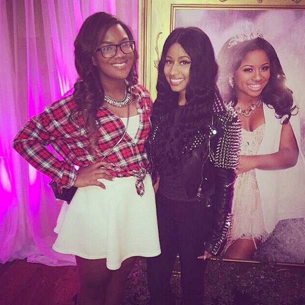 Kandi's daughter, Riley and Nicki Minaj.